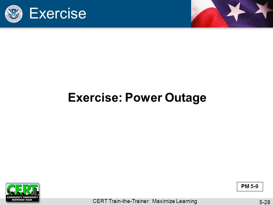 Exercise: Power Outage