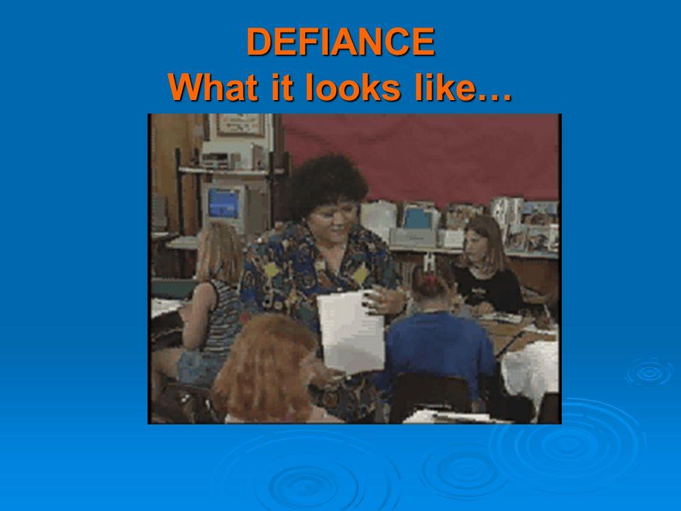 DEFIANCE What it looks like…
