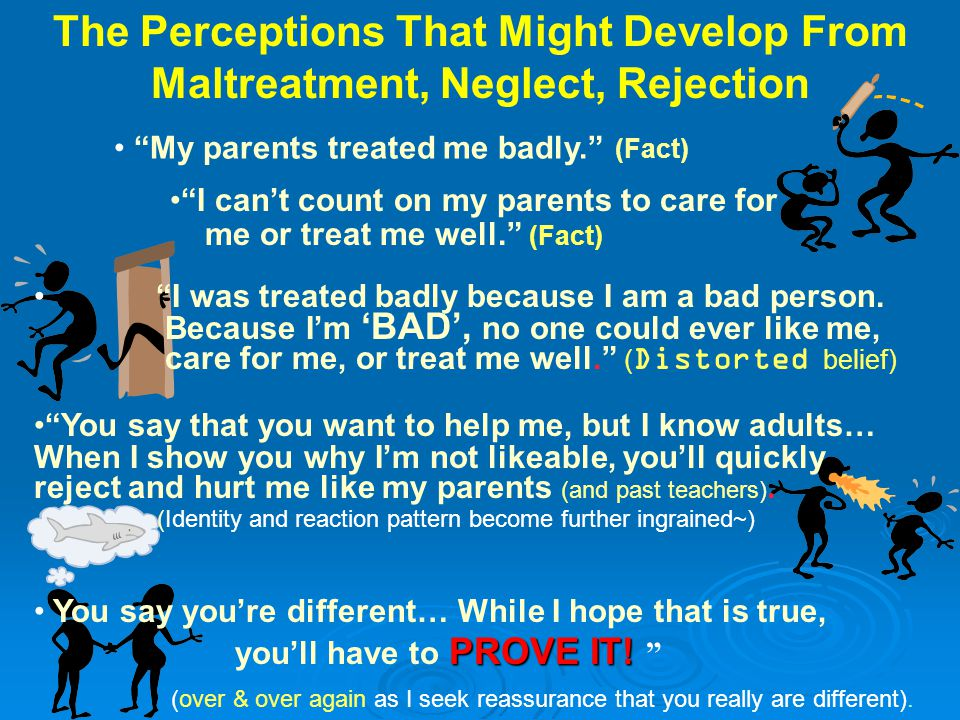 The Perceptions That Might Develop From Maltreatment, Neglect, Rejection