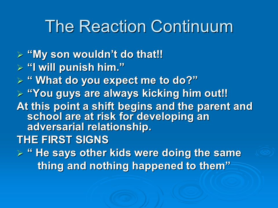 The Reaction Continuum