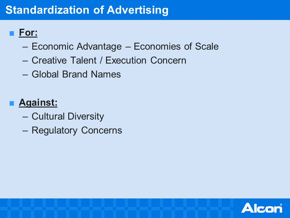 Standardization of Advertising