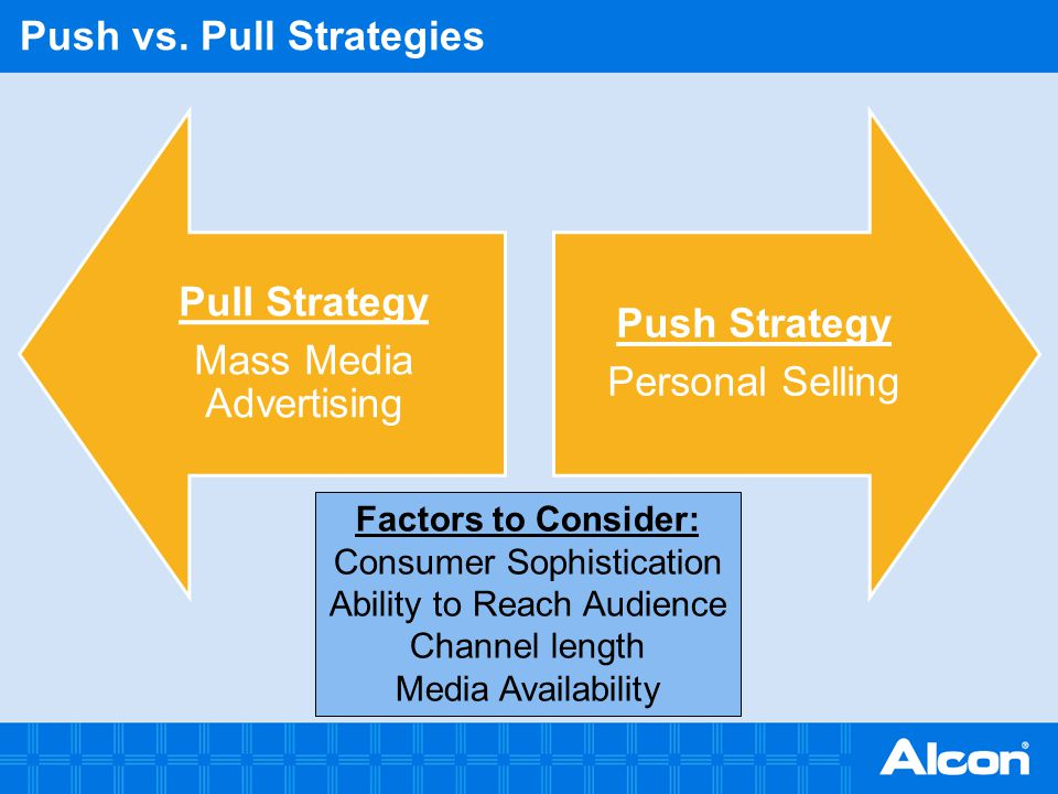 Push vs. Pull Strategies