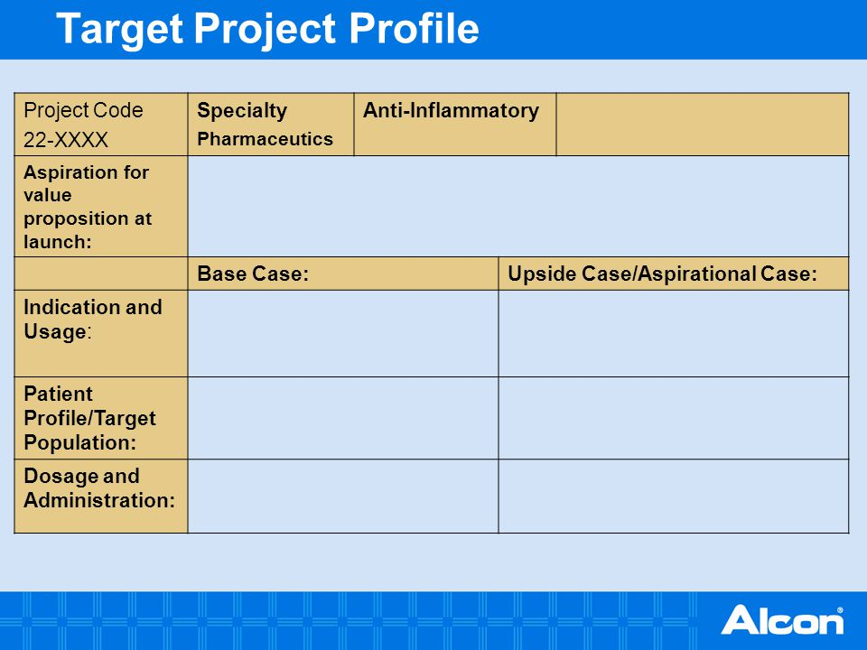 Target Project Profile