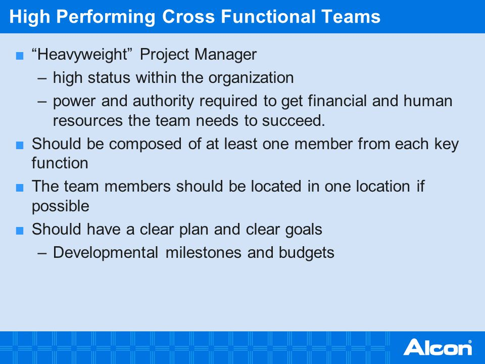 High Performing Cross Functional Teams