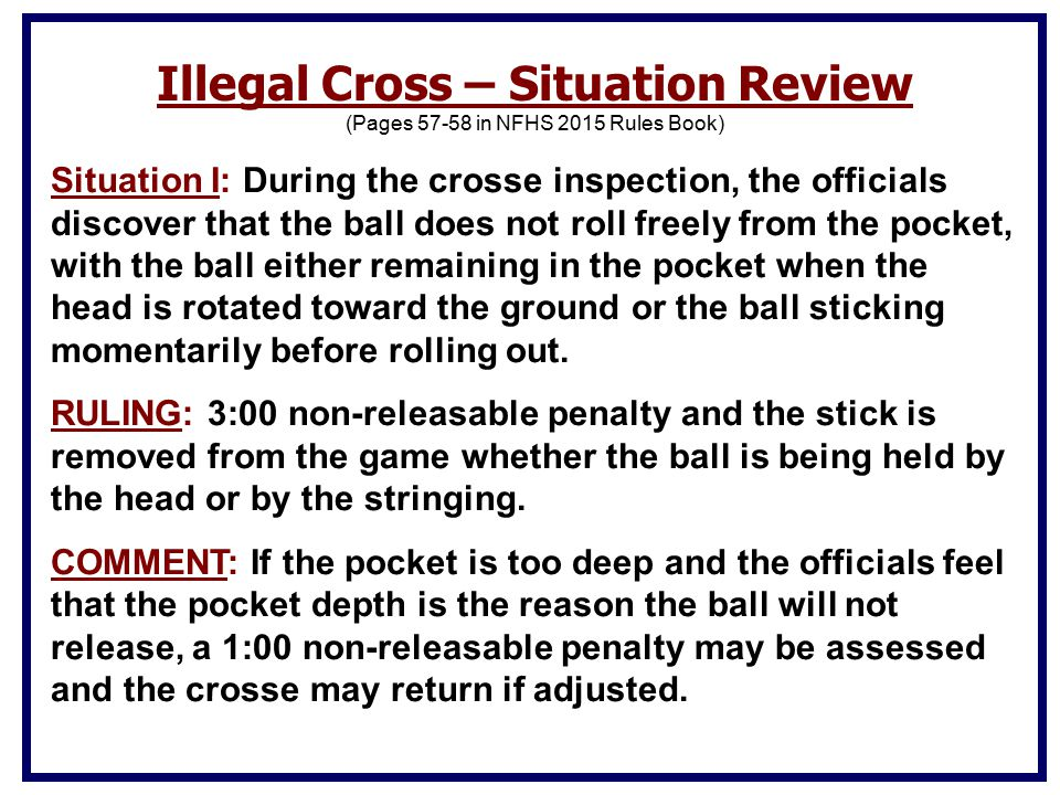 Illegal Cross – Situation Review