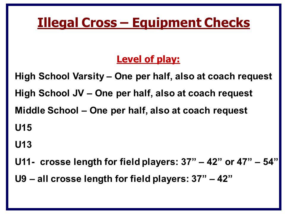 Illegal Cross – Equipment Checks