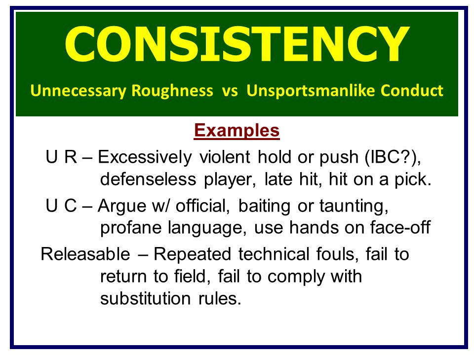 Unnecessary Roughness vs Unsportsmanlike Conduct