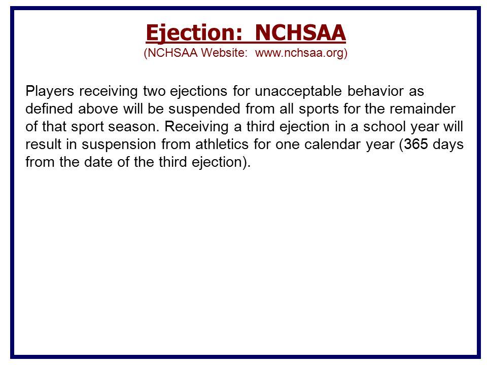 (NCHSAA Website: www.nchsaa.org)
