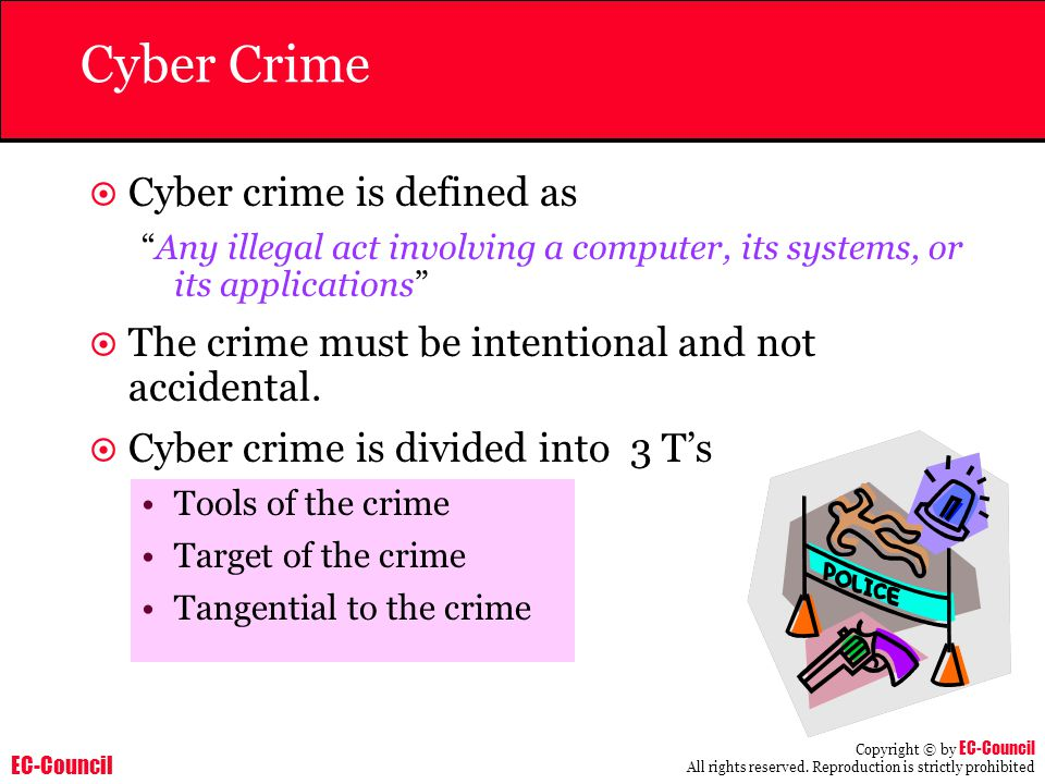 Cyber Crime Cyber crime is defined as