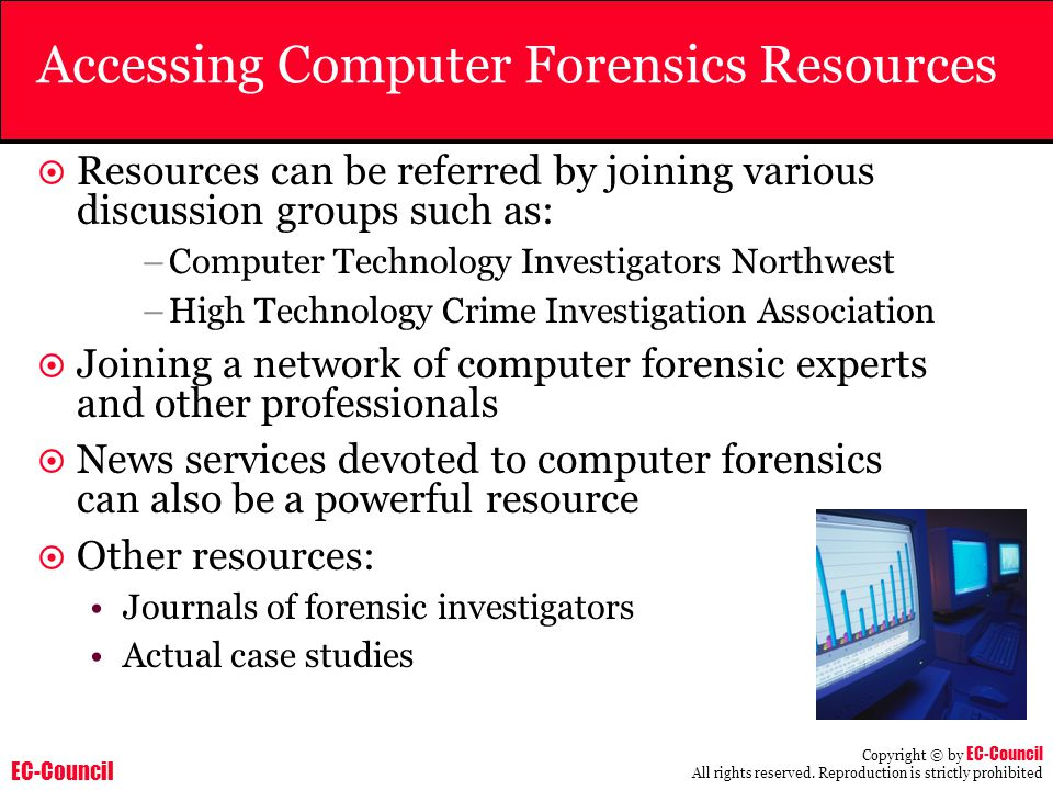 Accessing Computer Forensics Resources