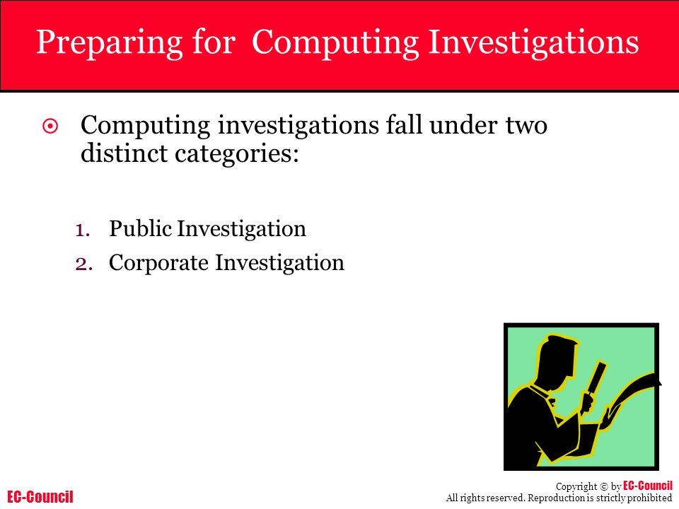 Preparing for Computing Investigations