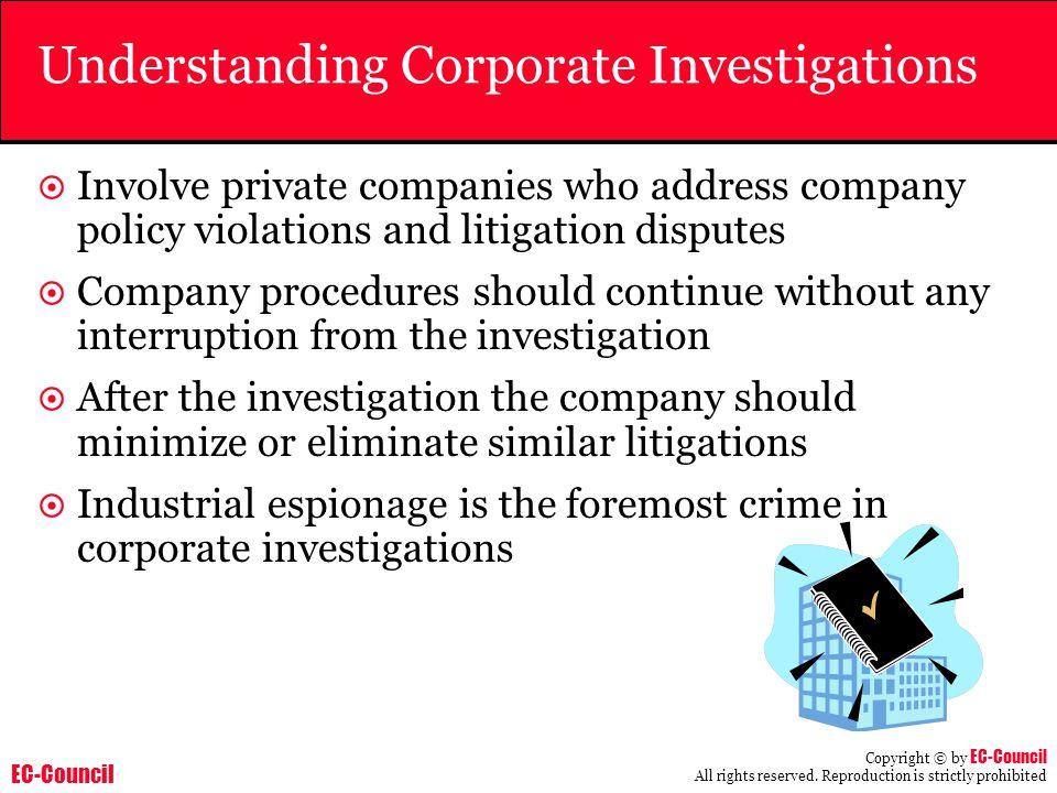 Understanding Corporate Investigations