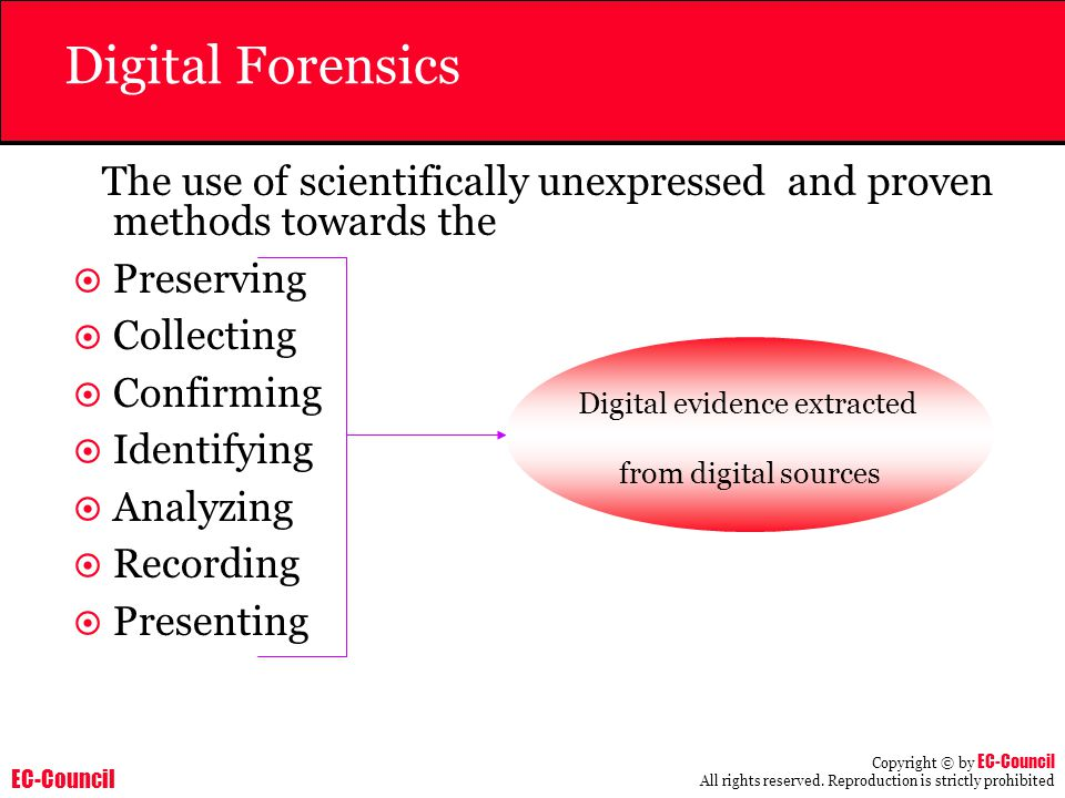 Digital evidence extracted