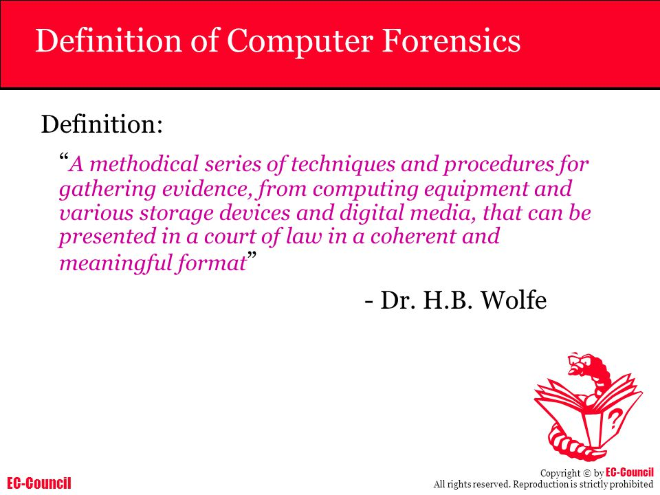 Definition of Computer Forensics
