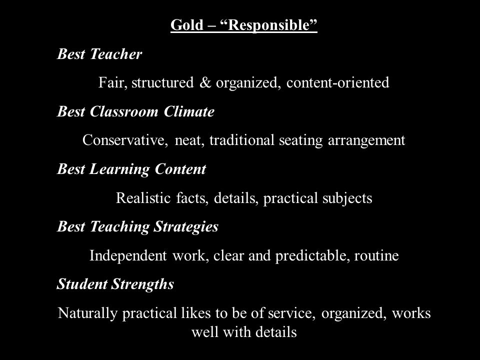 Fair, structured & organized, content-oriented Best Classroom Climate