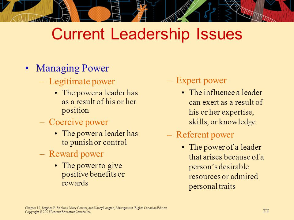 Current Leadership Issues