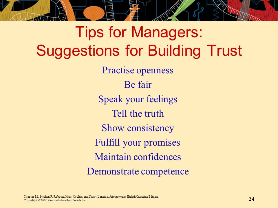 Tips for Managers: Suggestions for Building Trust