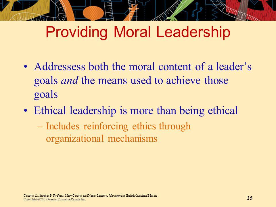 Providing Moral Leadership
