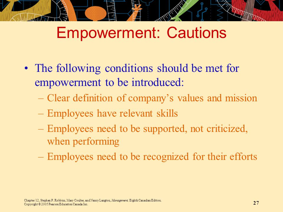 Empowerment: Cautions