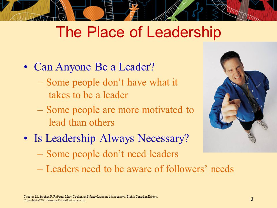 The Place of Leadership