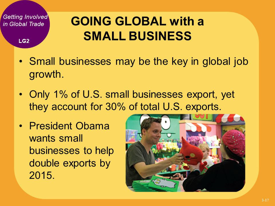 GOING GLOBAL with a SMALL BUSINESS