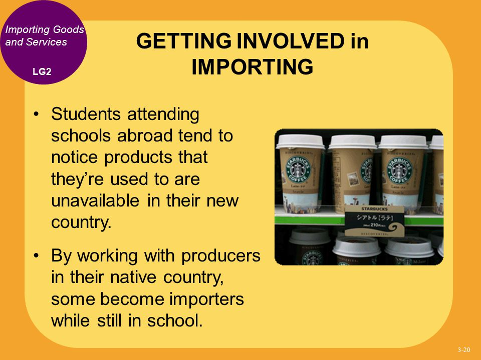 GETTING INVOLVED in IMPORTING