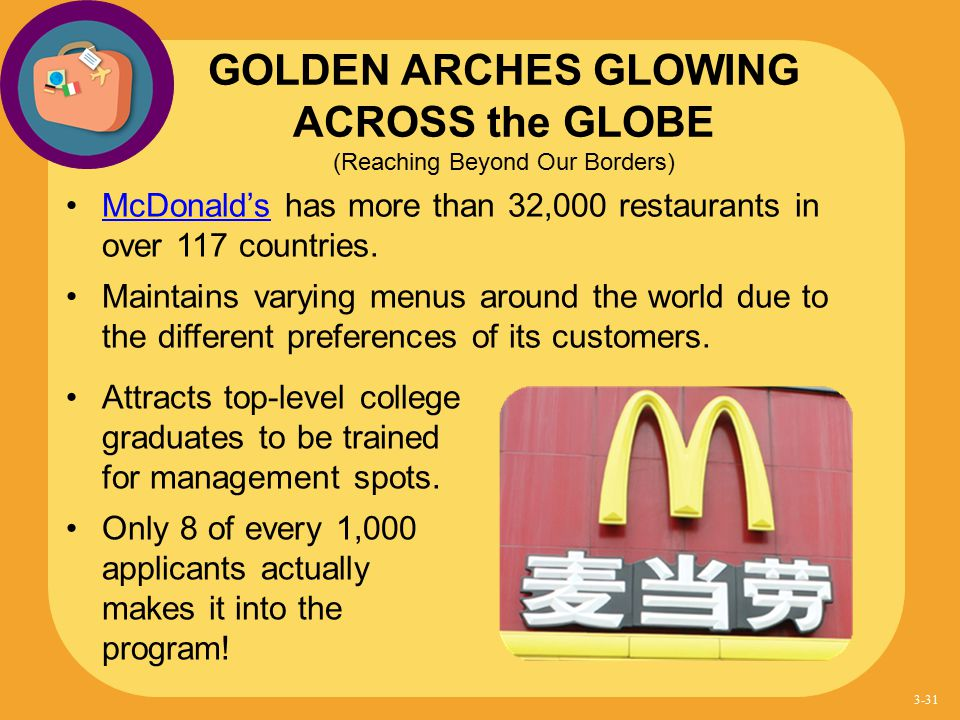 GOLDEN ARCHES GLOWING ACROSS the GLOBE (Reaching Beyond Our Borders)
