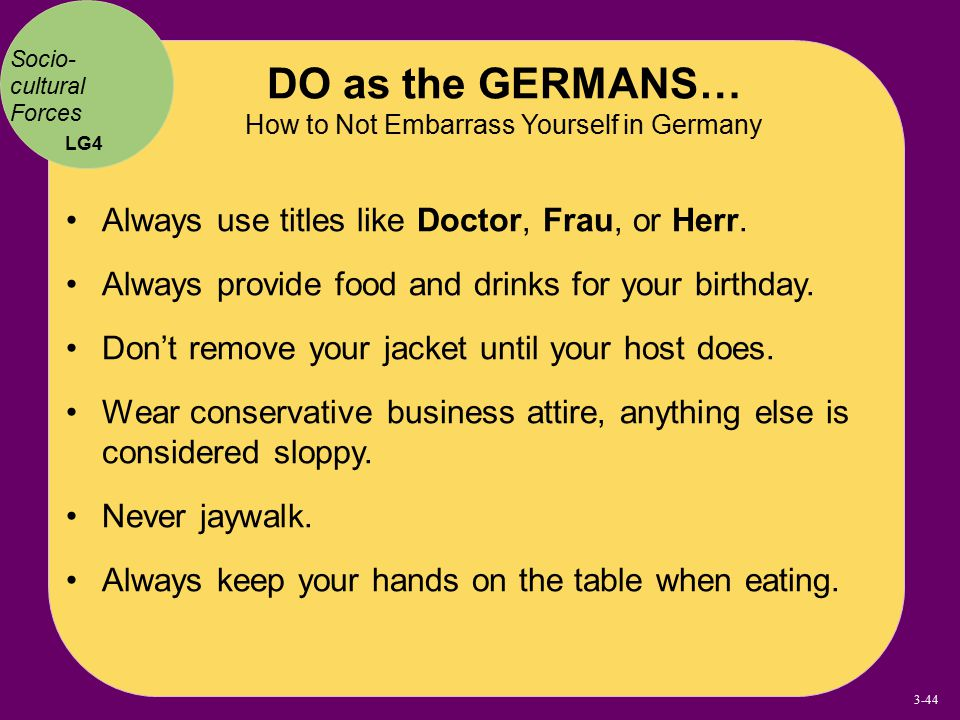 DO as the GERMANS… How to Not Embarrass Yourself in Germany
