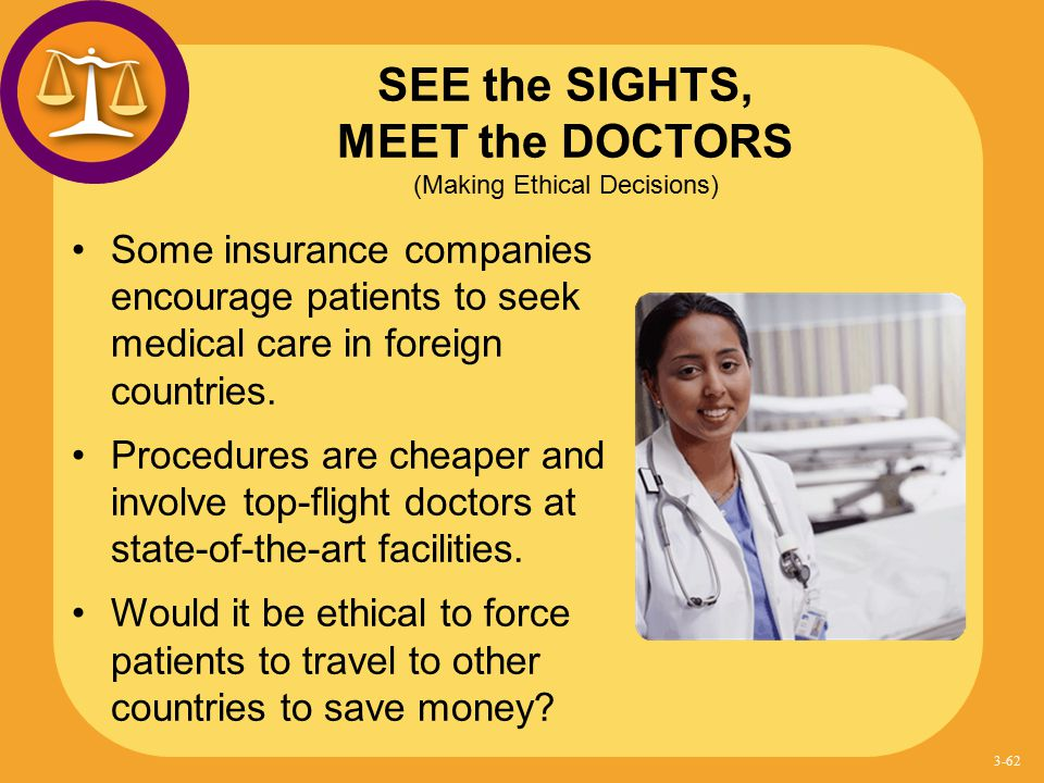 SEE the SIGHTS, MEET the DOCTORS (Making Ethical Decisions)