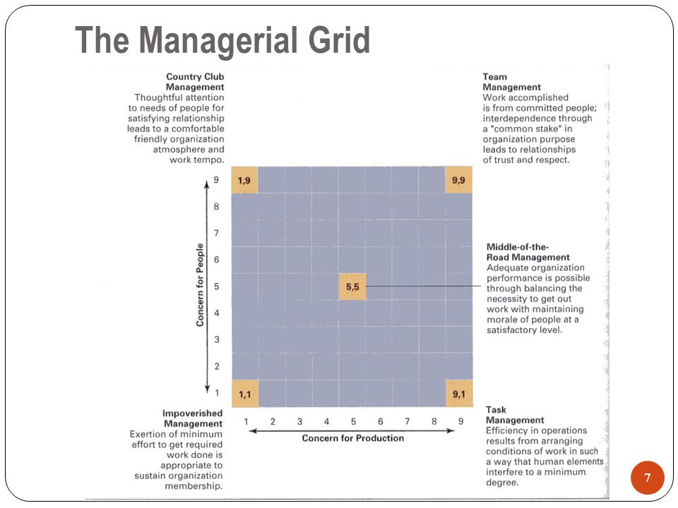 The Managerial Grid 7