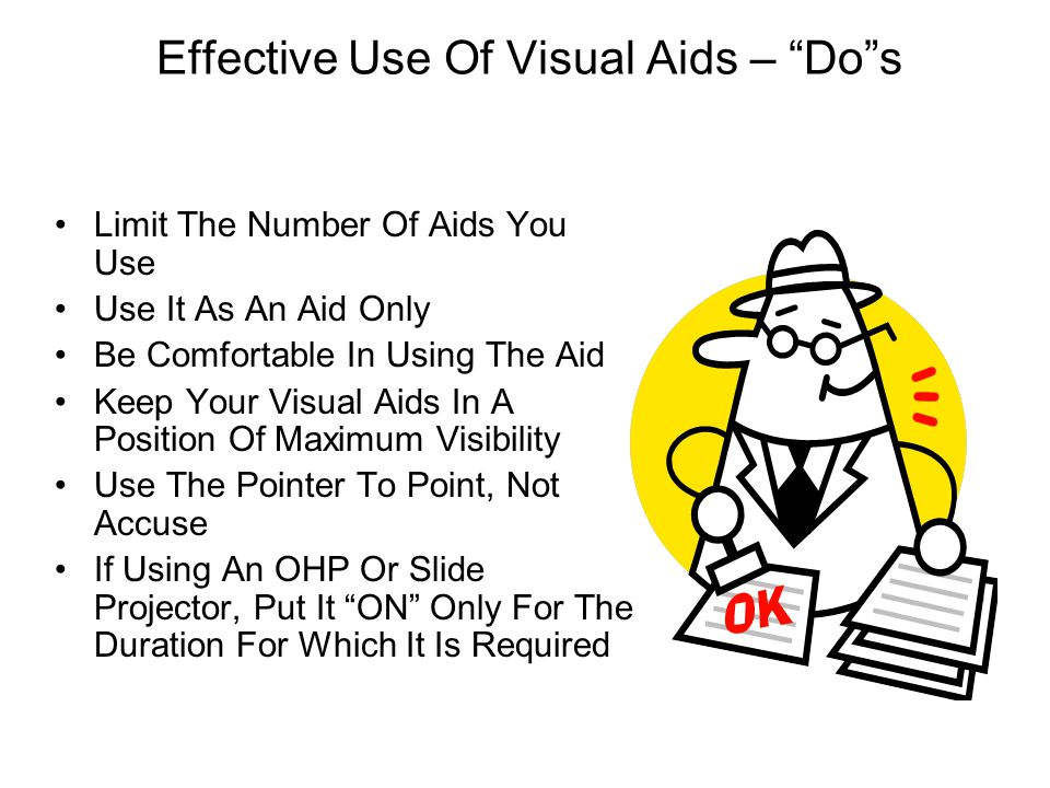 Effective Use Of Visual Aids – Do s