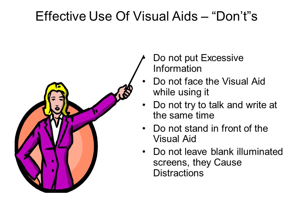 Effective Use Of Visual Aids – Don't s