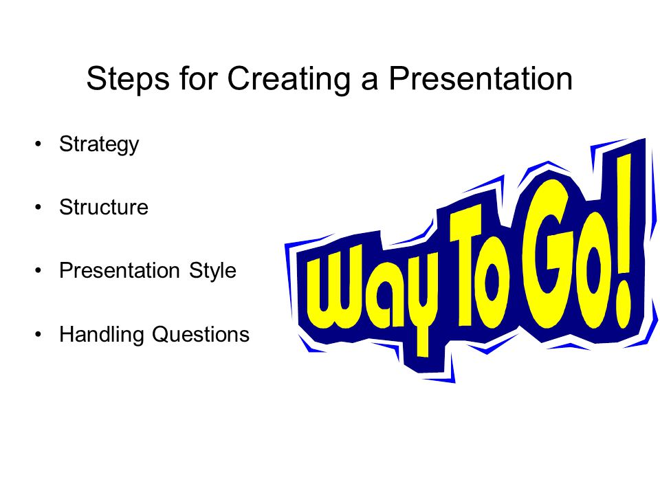 Steps for Creating a Presentation