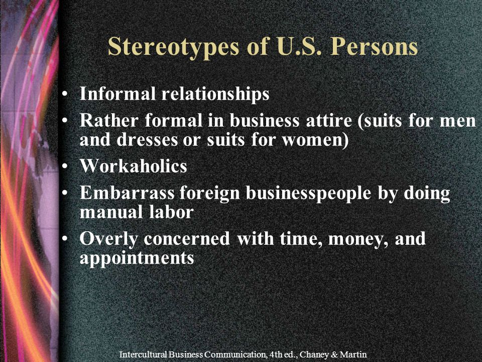 Stereotypes of U.S. Persons