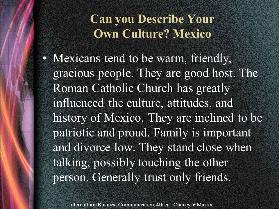 Can you Describe Your Own Culture Mexico