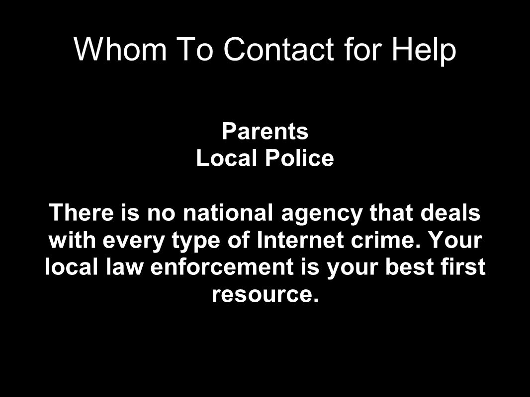 Whom To Contact for Help