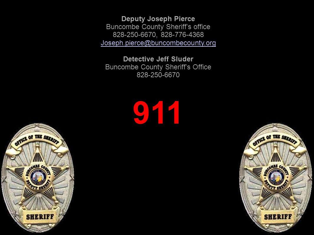 911 Deputy Joseph Pierce Buncombe County Sheriff's office