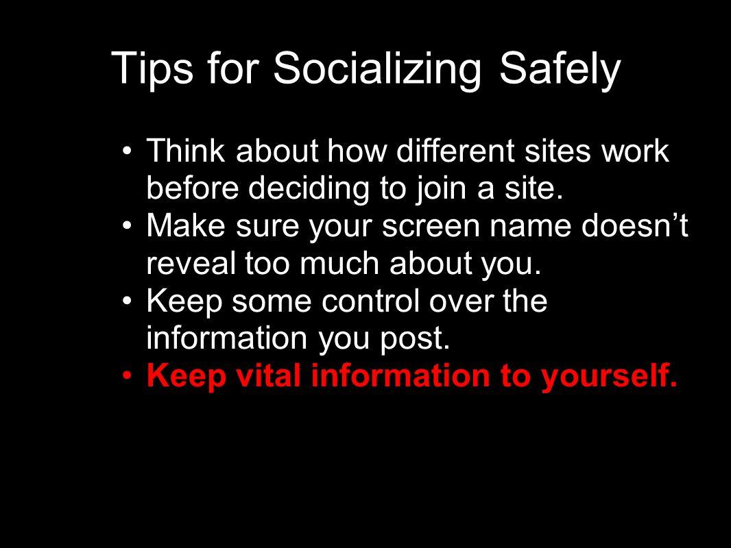 Tips for Socializing Safely
