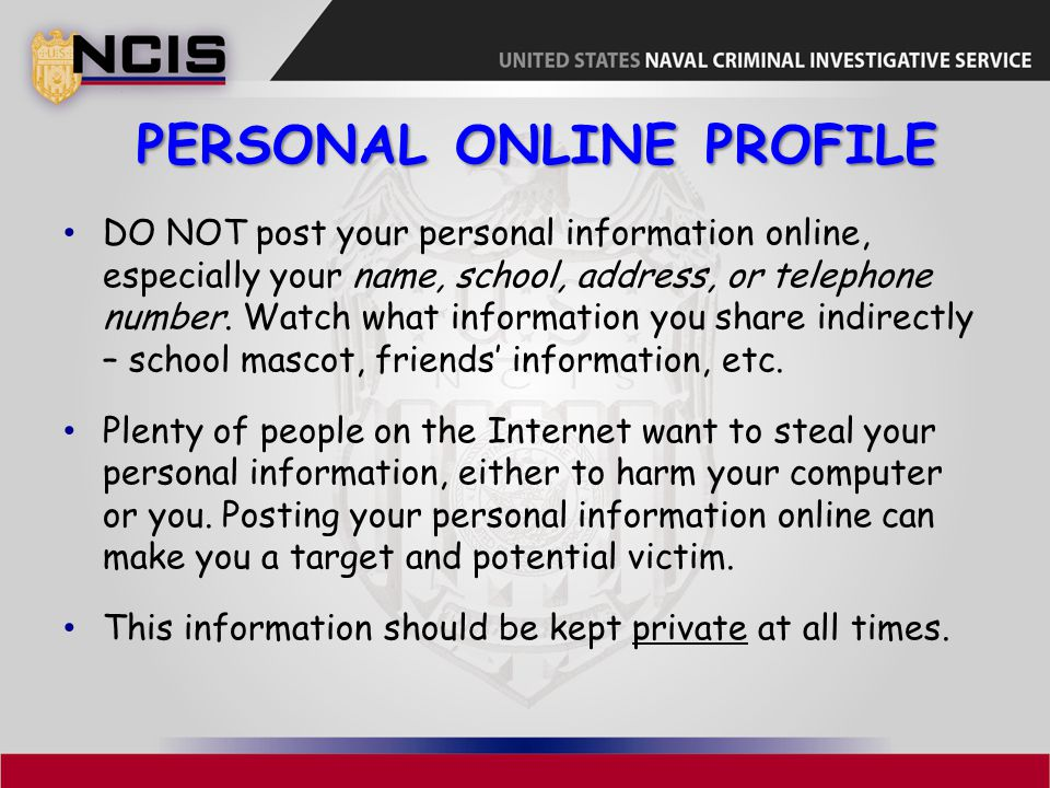 Personal Online Profile