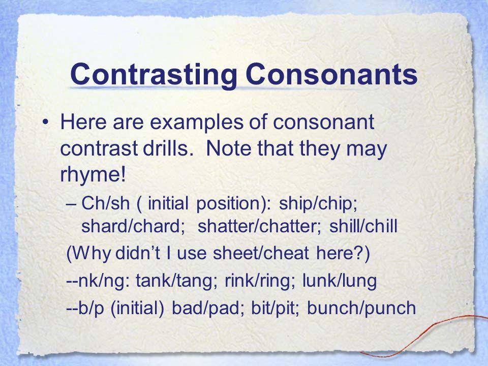 Contrasting Consonants