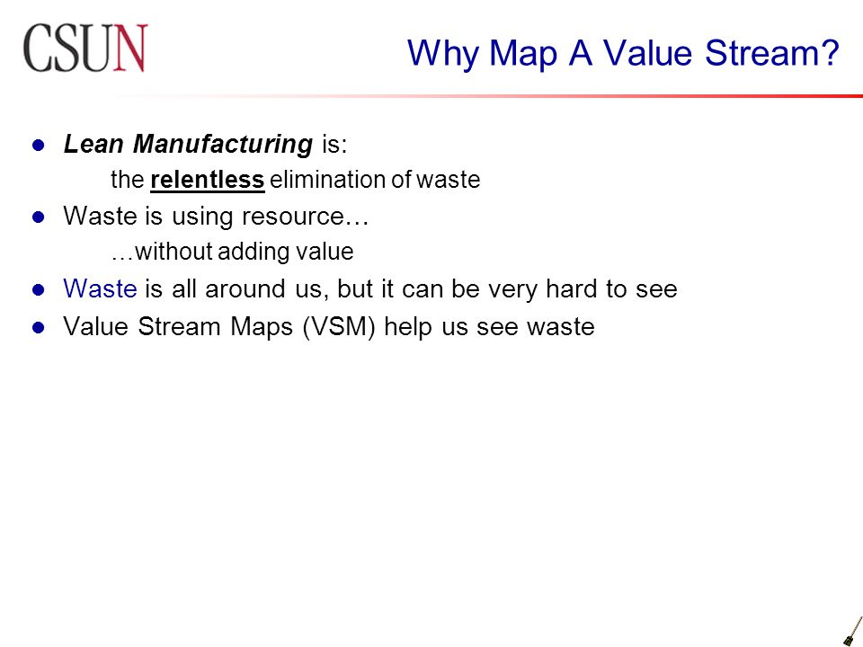 Why Map A Value Stream Lean Manufacturing is: