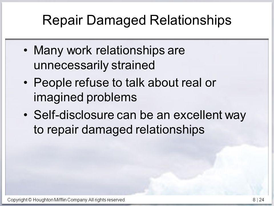 Repair Damaged Relationships