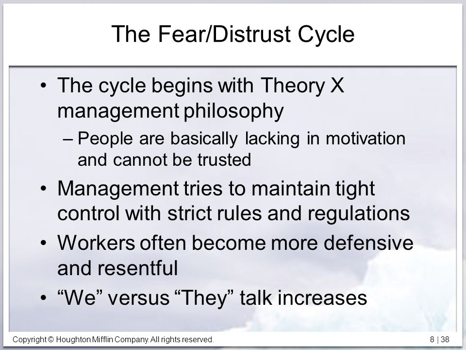The Fear/Distrust Cycle