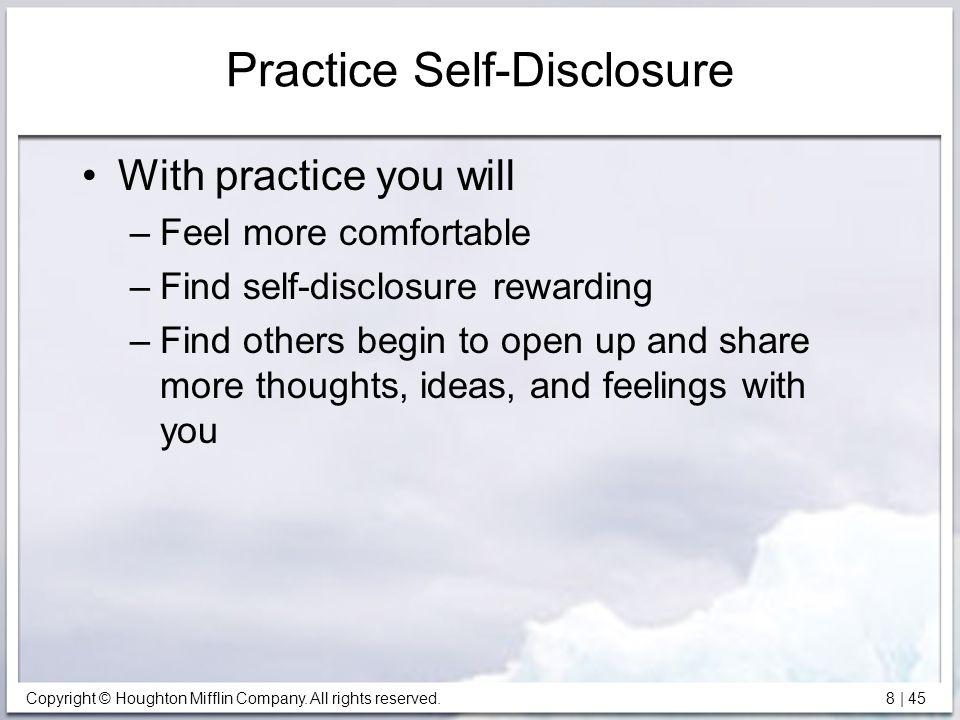 Practice Self-Disclosure