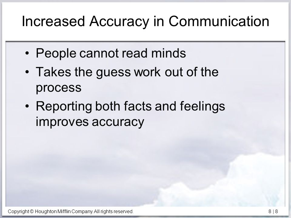Increased Accuracy in Communication