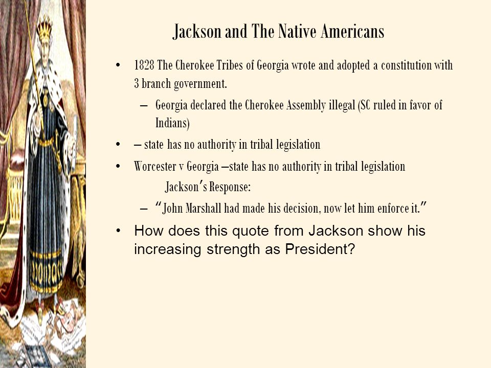 Jackson and The Native Americans