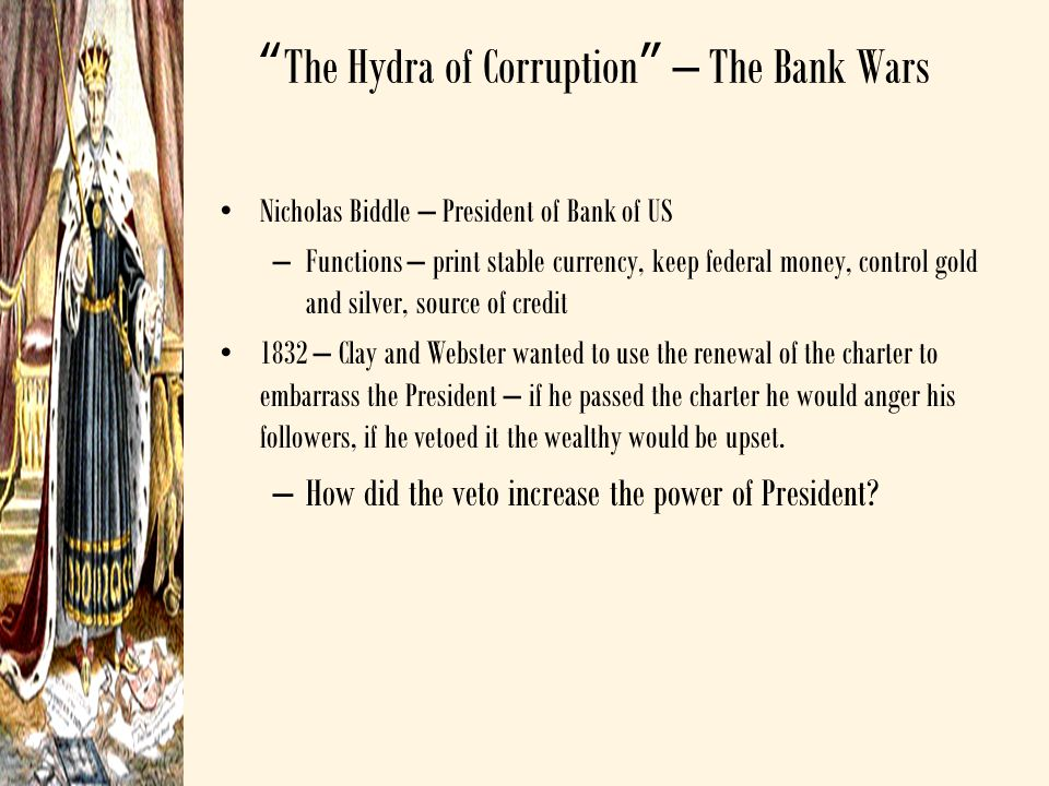 The Hydra of Corruption – The Bank Wars