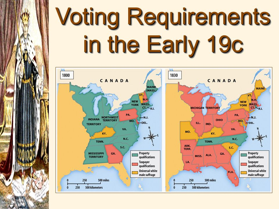 Voting Requirements in the Early 19c