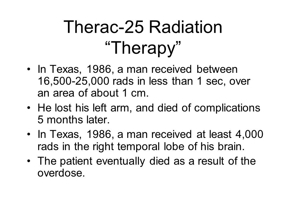 Therac-25 Radiation Therapy