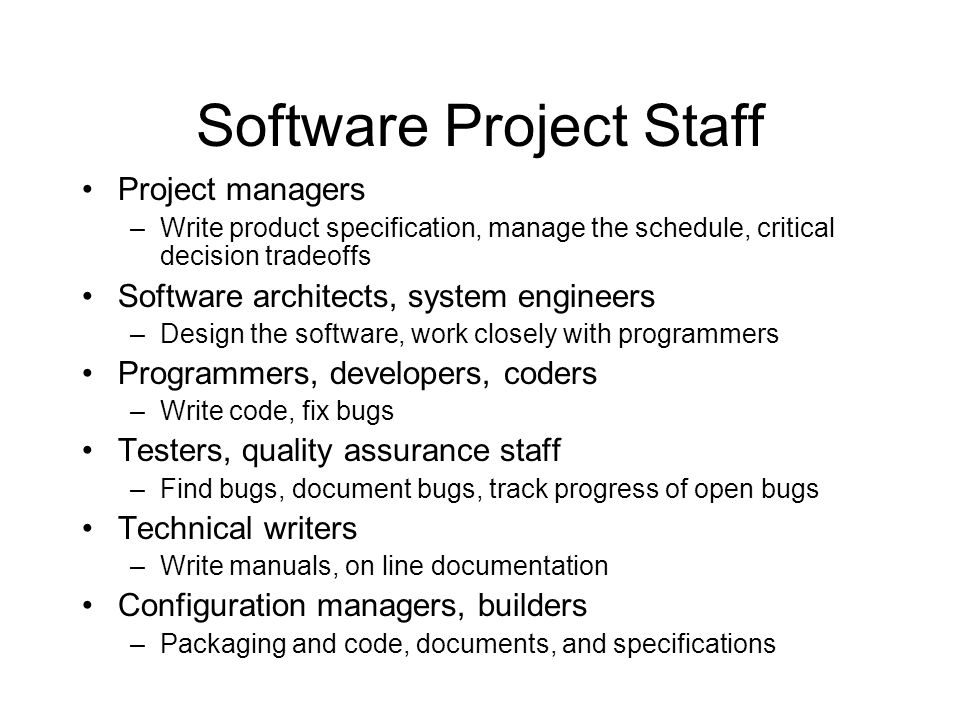 Software Project Staff